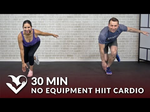 30 Minute No Equipment HIIT Cardio Workout - 30 Min Tabata HIIT at Home No Equipment Cardio Workouts