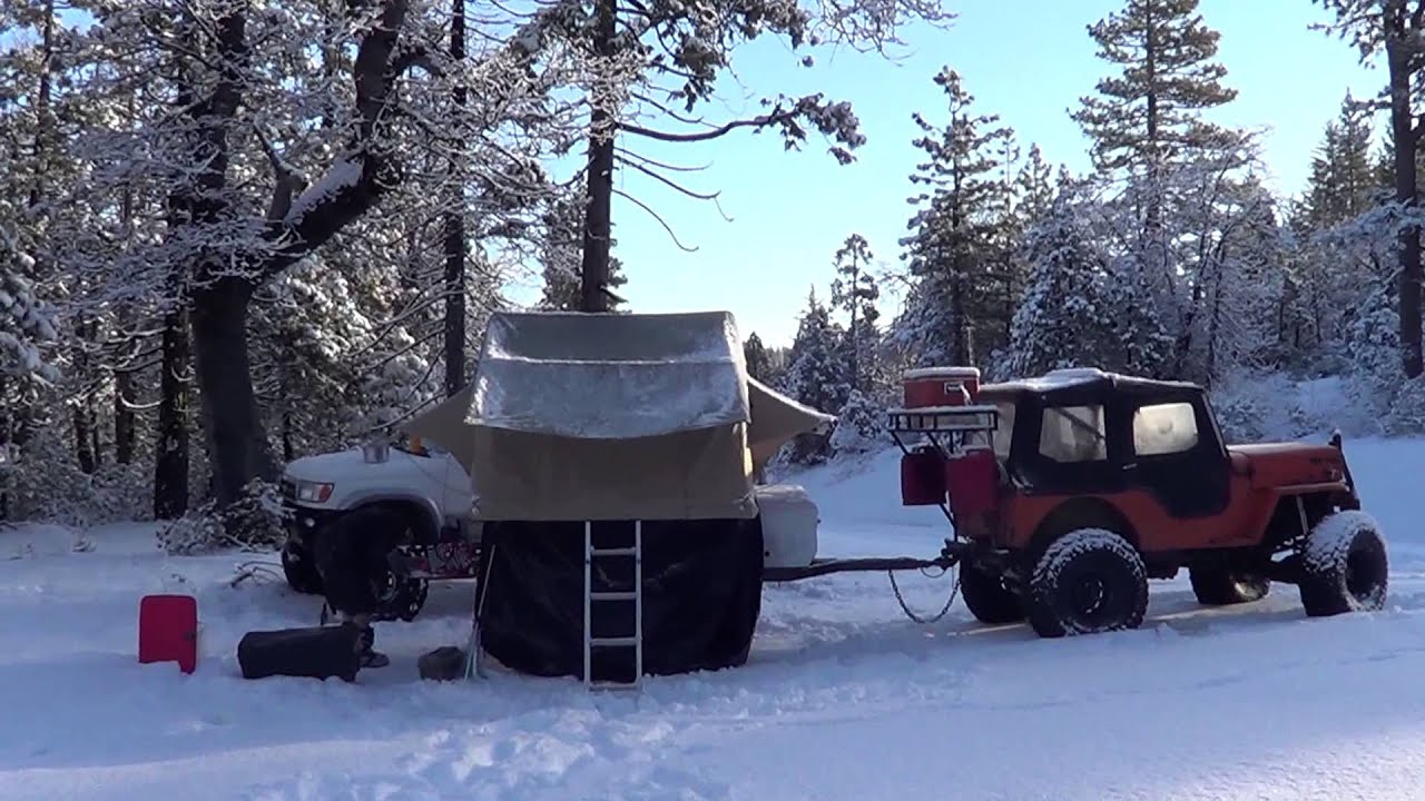 Jeep Willys And Sas 4runner March 2013 Snow Camping