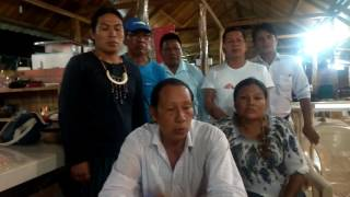 President for Indigenous Quijos people signs the Nature Nations Declaration of Independence
