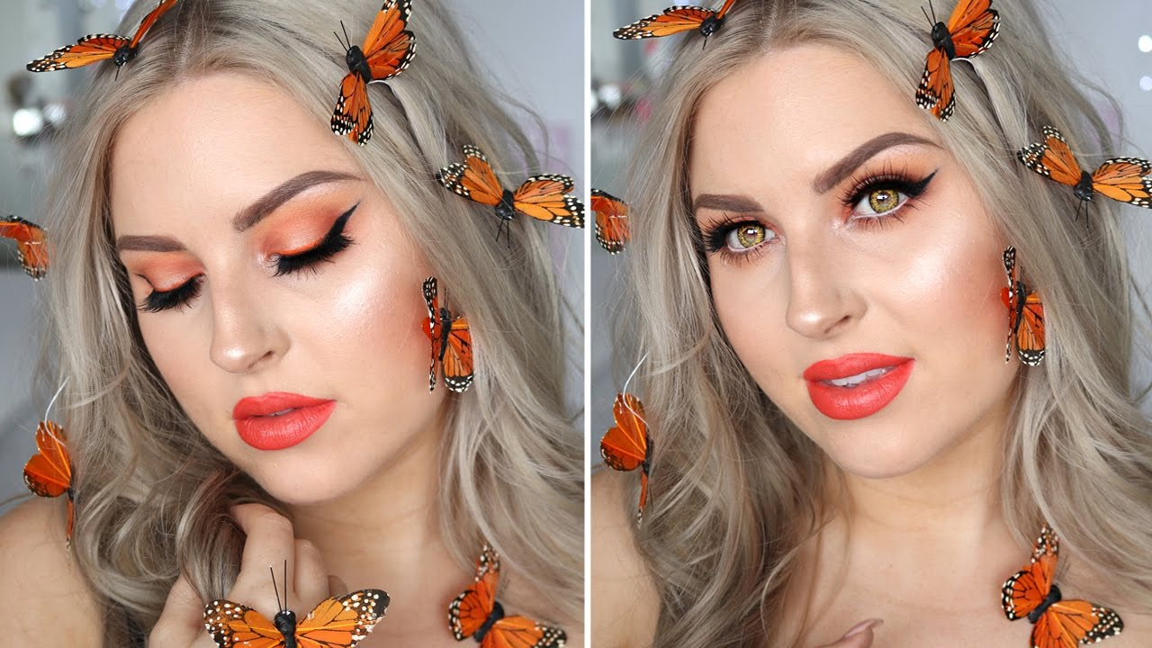 Butterfly Fairy Costume Makeup ♡ Glamorous Orange ...