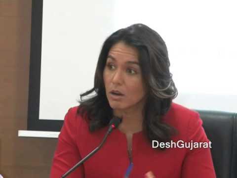 US Congress woman Tulsi Gabbard interacts at GCCI function in Ahmedabad Gujarat