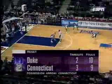11/29/1994 Great Eight:  #6 Duke Blue Devils vs.  #16 Connecticut Huskies