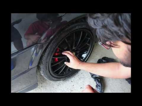 Spray Painting Car Wheels (Animation)