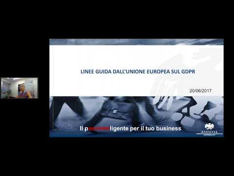Linee guida sul General Data Protection Regulation   parte 1