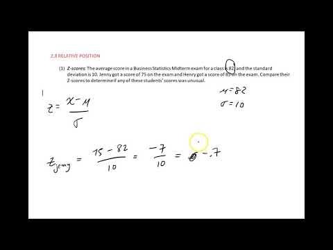 2.8 Relative Position (Z-Score calcuation)