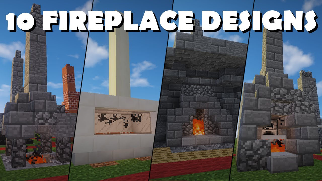 10 Awesome Minecraft Fireplace Designs + Variations - YouTube