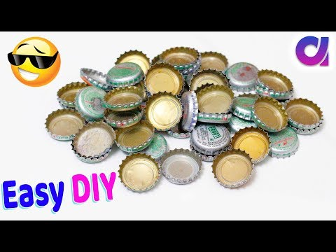 Best DIY reuse idea from waste metal bottle cap craft idea | best out of waste | Artkala 534