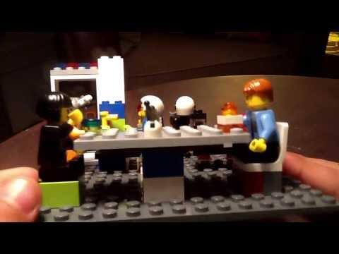 Je vous présente mon bar restaurant lego que j'ai inventé