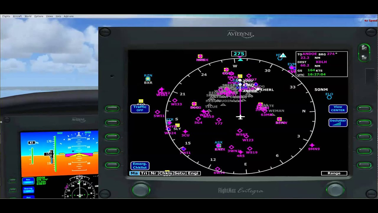 Eaglesoft Cirrus SR22G3 Turbo 4R5 to KDLH ILS set up and precision approach