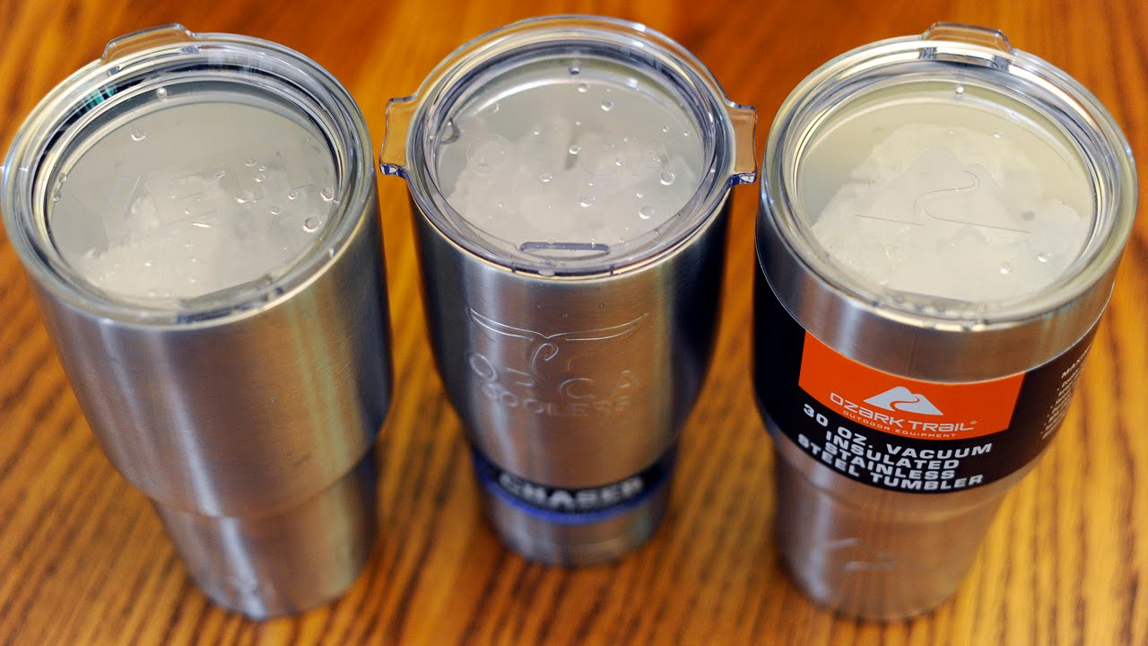 Yeti vs Orca vs Ozark Trail tumbler: Which holds ice the