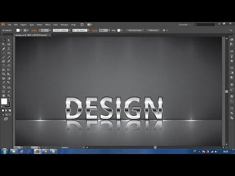 adobe illustrator:metallic text design tutorial