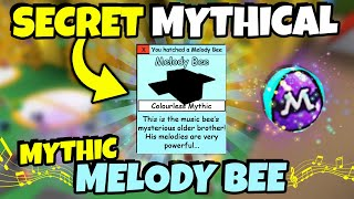 *SECRET* MYTHICAL MELODY BEE.. NEW MUSIC BEE in BEE SWARM SIMULATOR?! (Roblox)