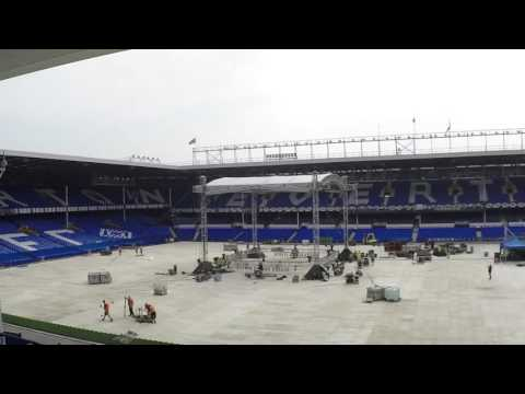From Football Stadium To Boxing Arena