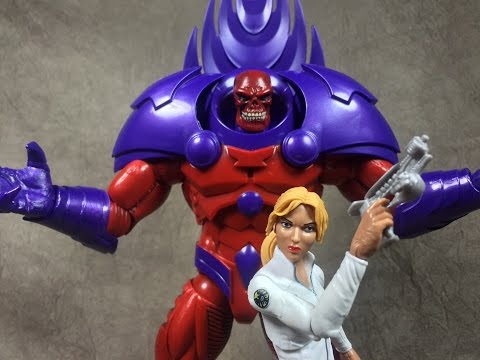 Marvel Legends Captain America Build A Figure Red Onslaught And Sharon Carter