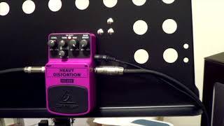 Demo Behringer HD300 (Heavy Distortion) No talking