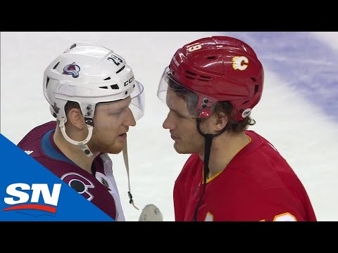 Colorado Avalanche Shake Hands With Calgary Flames After Stunning Upset
