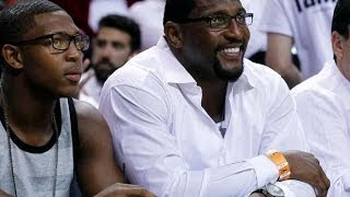 Ray lewis promoting his son