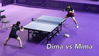 Dima vs Mima, 꿈에서나 상상하던 훈련 파트너 (2018 Korea Open Training Hall)