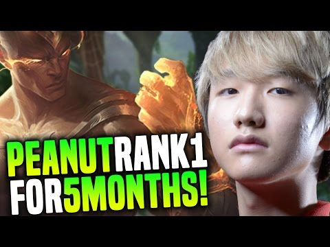 Peanut Stays Rank 1 In Korea For 5 Months in a Row With +65% Winrate in the Jungle   Peanut Plays Le