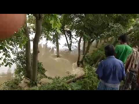 This is latest videos damage of dam in runni Saidpur