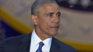 El 'presidente' Obama se despide de la nación