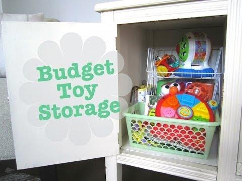 Budget Toy Organization With Dollar Tree Bins!