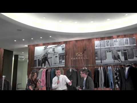 Robbie Williams Menswear Farrell - interview with Robbie Williams & his head designer Ben Dickens