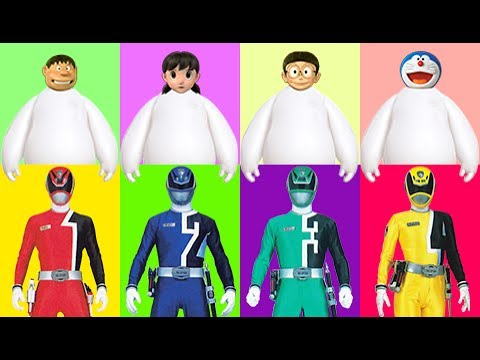 Thumbnail: Wrong Heads Wrong Dress Doraemon Superheroes Power Rangers Cartoon Finger Family Nursery Rhymes Song