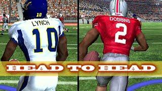 HEAD TO HEAD Marshawn Lynch and JK Dobbins -NCAA Football 07