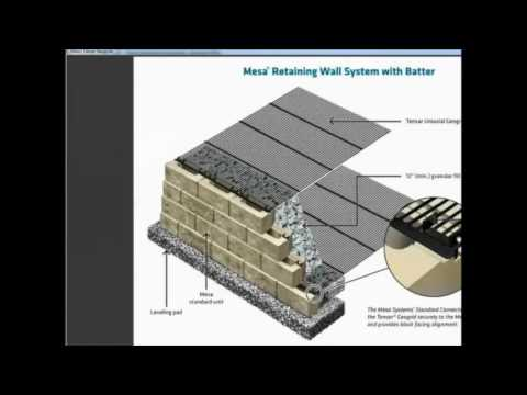 Mse Wall Design mse wall design with tensarsoil software - youtube
