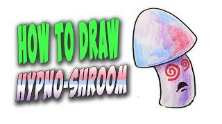 How To Draw Hypno-shroom (Plants vs. Zombies) – Mr. Cute Cartoon Drawing Club