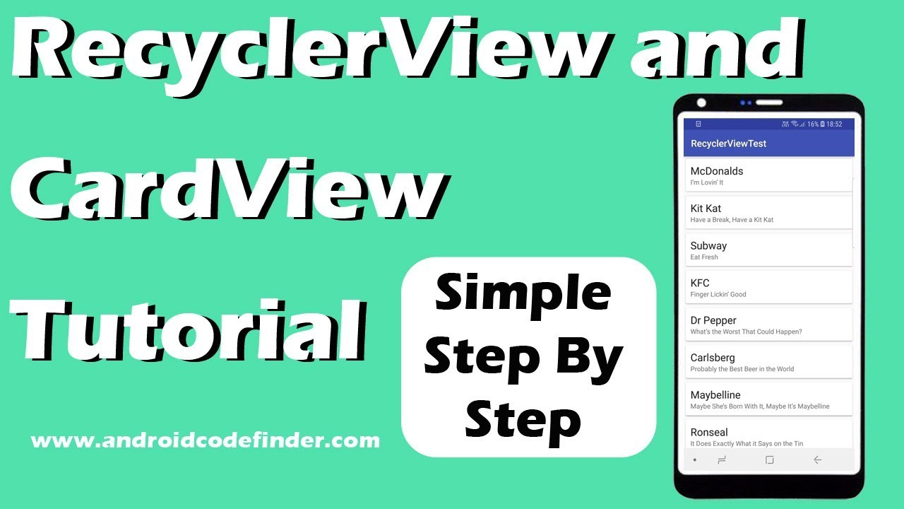 Android Working with Recyclerview and Cardview – Android