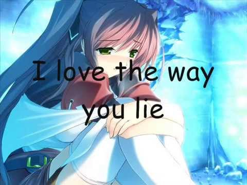 Nightcore  Love the Way you lie Lyrics