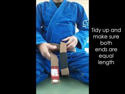 How to tie your bjj belt!