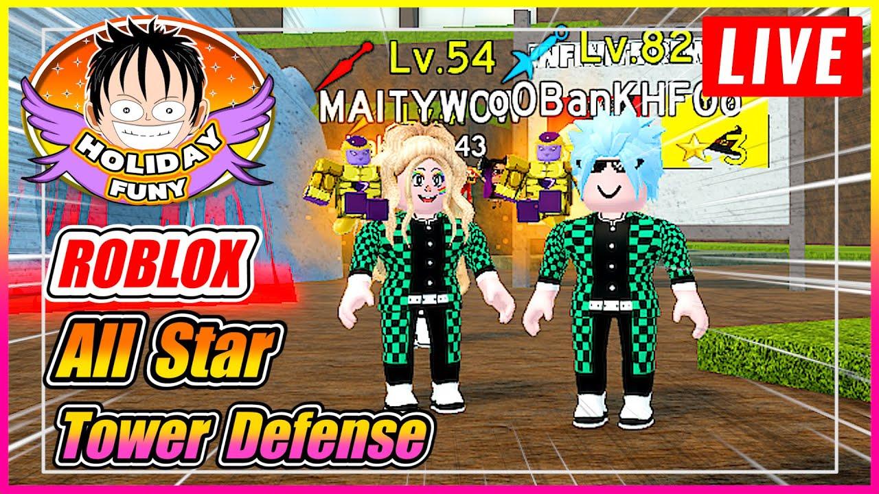 🔴All Star Tower Defense หนวดขาวสูญพันธุ์! ต่อด้วยเกมส์ผึ้ง -รับฟาร์มชินโด-บล๊อกฟุต(โดเนท 5บาทขึ้นจอ)