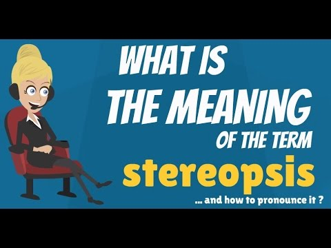 What is STEREOPSIS? What does STEREOPSIS mean? STEREOPSIS meaning, definition & explanation