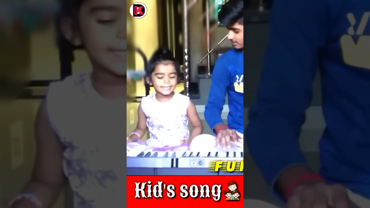 small girl performing nursury song| kid's song| with piano cover