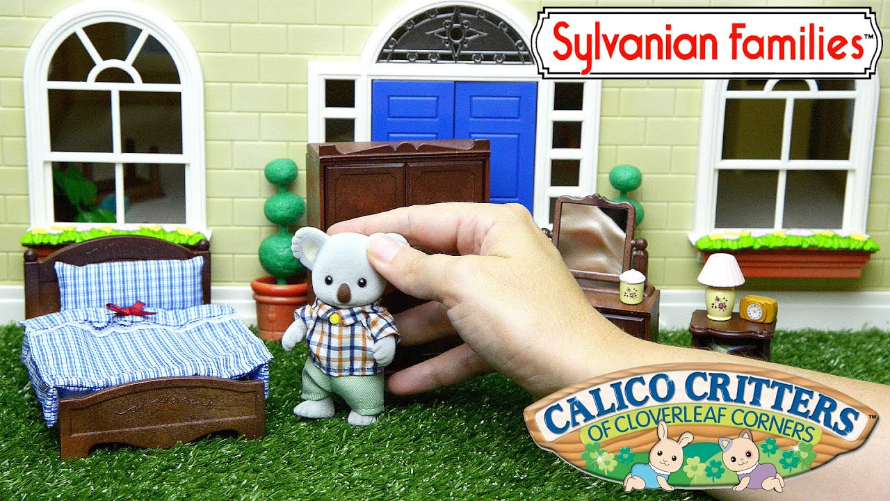Sylvanian Families Calico Critters Parent Bedroom Bear Family Set Unboxing And Review Kids Toys Youtube