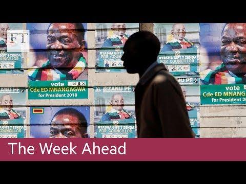 Zimbabwe elections, US jobs data, UK rate decision