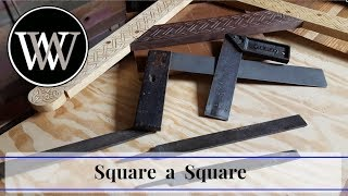 How to Square a Sqขare and Make it True   Hand Tool Woodworking tip