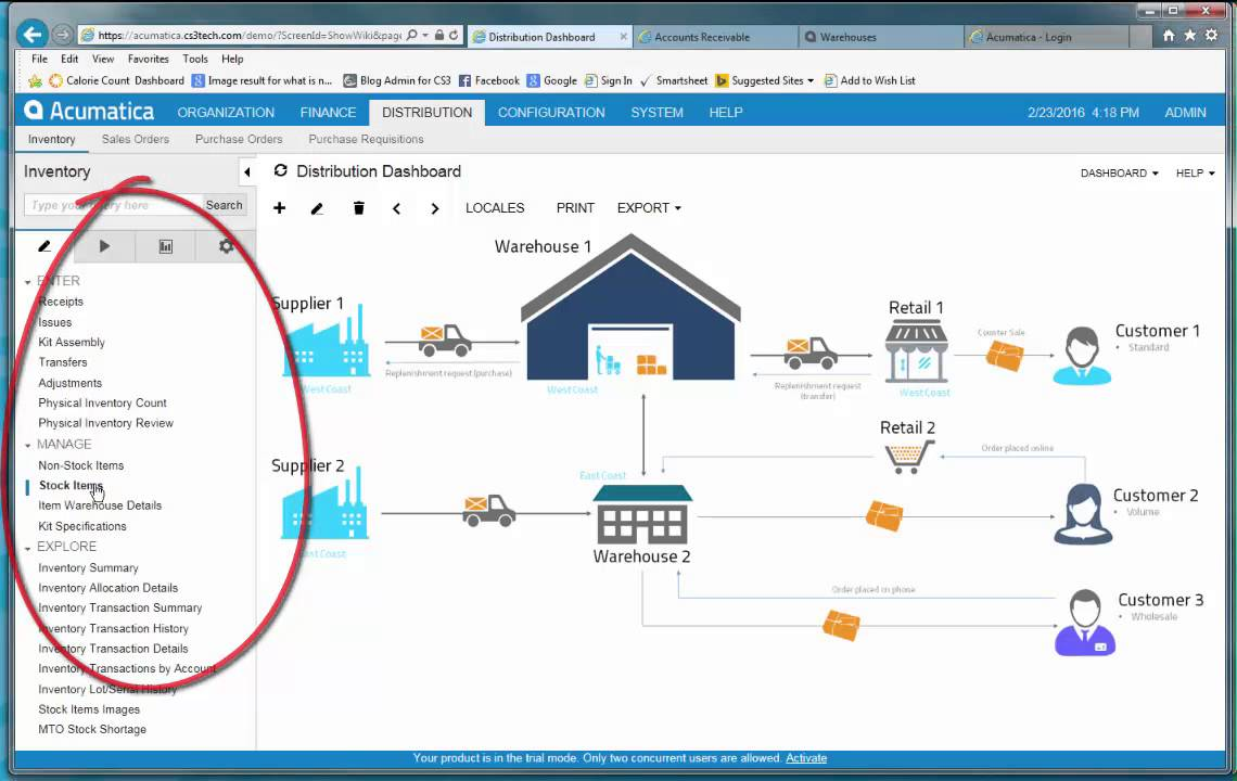 acumatica erp software demo