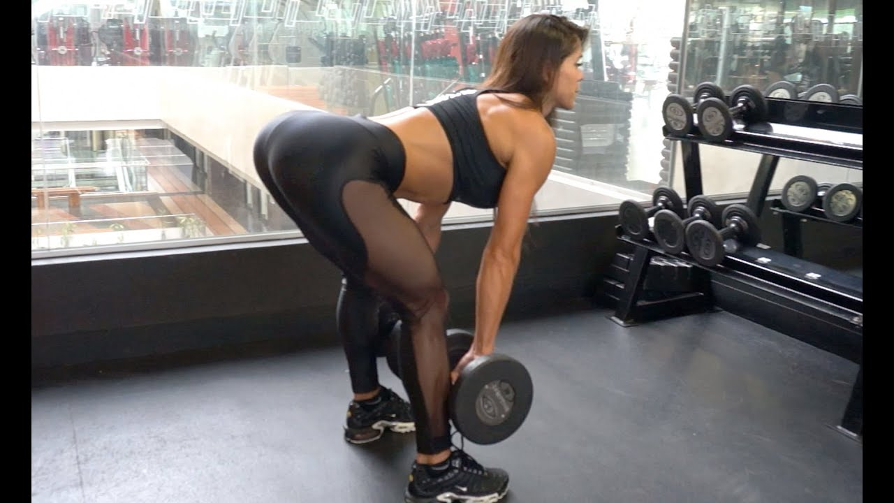 Michelle Lewin Workout Booty Blaster Free Weights Vs