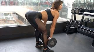 MICHELLE LEWIN Workout: Booty Blaster - Free Weights vs Machines