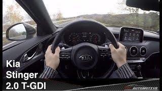 Kia Stinger 2.0 T-GDI POV Test Drive + Acceleration 0 - 260 km/h + Top Speed - FAAST!