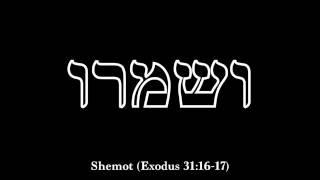 VeShamru...observa rl Shabbat
