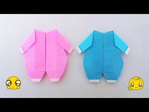 origami baby clothes ����������������� ��������������� youtube