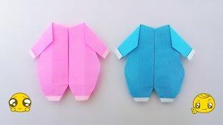 Origami baby clothes / พับกระดาษ ชุดเด็กเล็ก