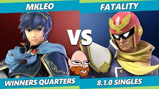 8.0 Gimvitational Winners Quarters - T1 | MkLeo (Marth) Vs. Fatality (Captain Falcon) SSBU Ultimate