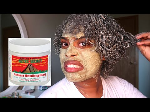 I used the Aztec Clay Mask on my face & curly hair...| Adrienne Taylor World