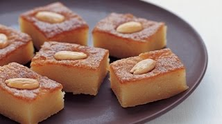 namoura cake eggless sooji rava cake recipe in hindi semolina cake